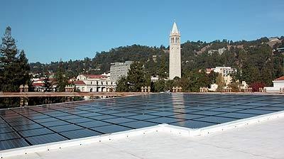 Solar panels on MLK Student Union Building, UC Berkeley